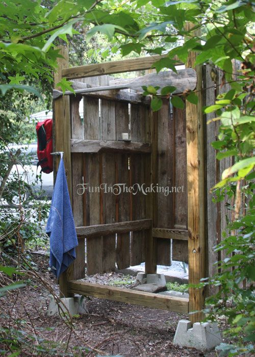 Recycled Lumber Outdoor Shower Outdoor Shower Rustic Outdoor Outside Showers