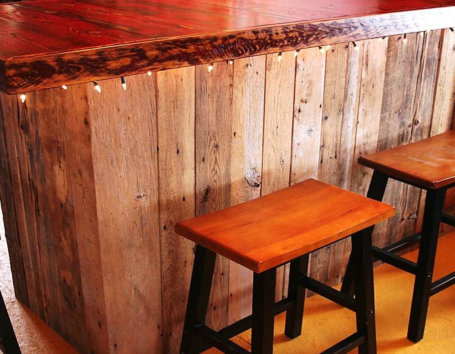 fabrication d 39 ilot central sur mesure bois de grange espace bois appart pinterest ilot. Black Bedroom Furniture Sets. Home Design Ideas