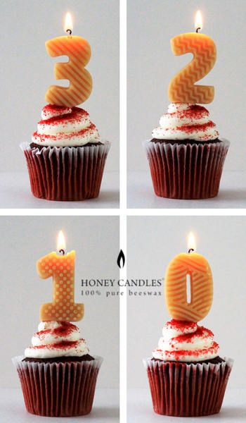 3 2 1 Honey Candles Beeswax Birthday Cake Candle Numbers Are Here