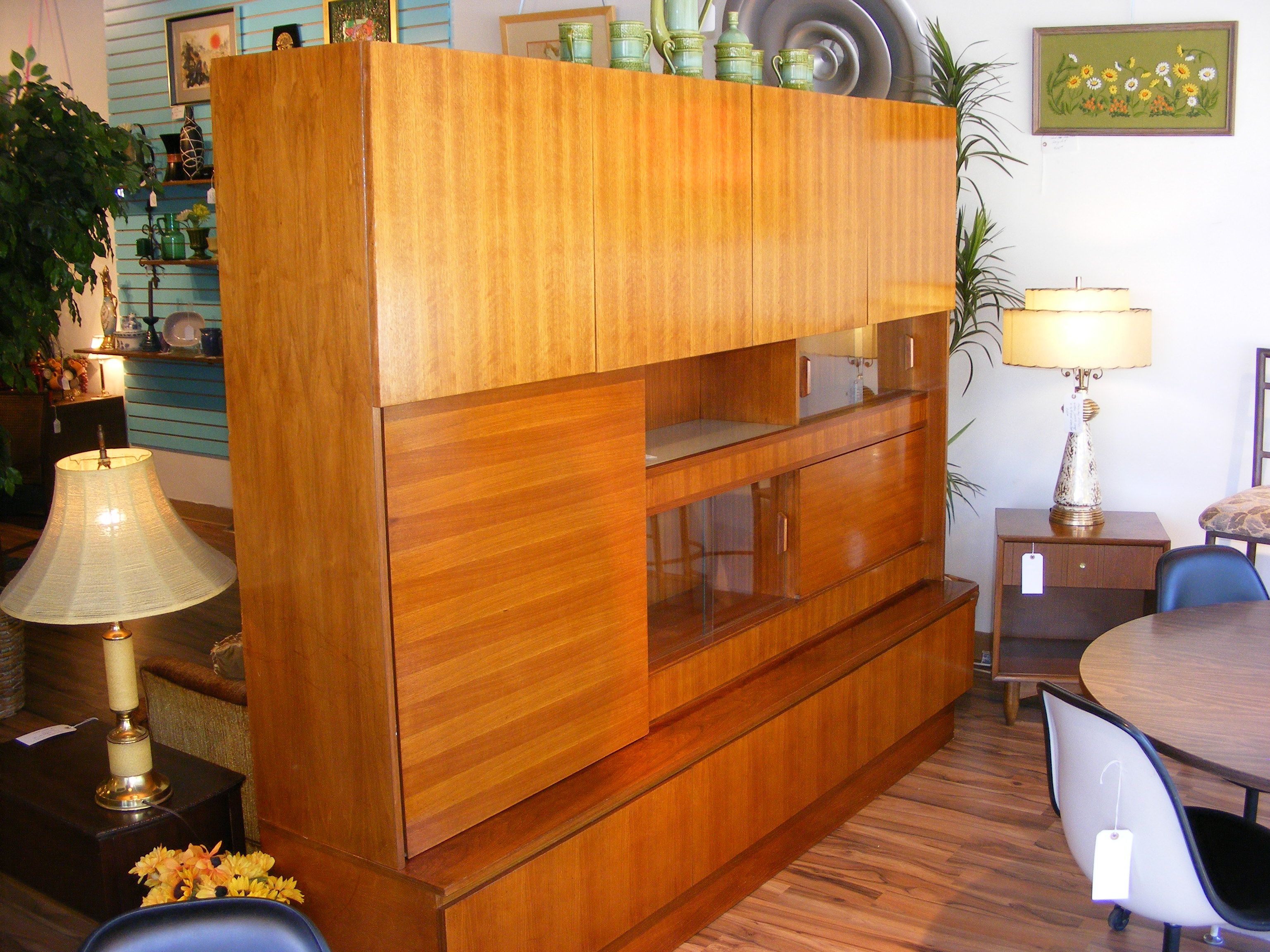 Modern storage area - Danish Modern Teak Wall Unit So Many Compartments And Storage Areas This Is A