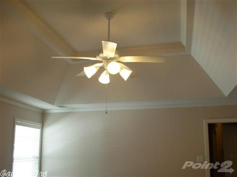 Example Of Sloped Tray Ceiling Tray Ceiling Ceiling Ceiling Fan