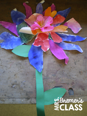 Spring art activity for Kindergarten- making flowers using warm and