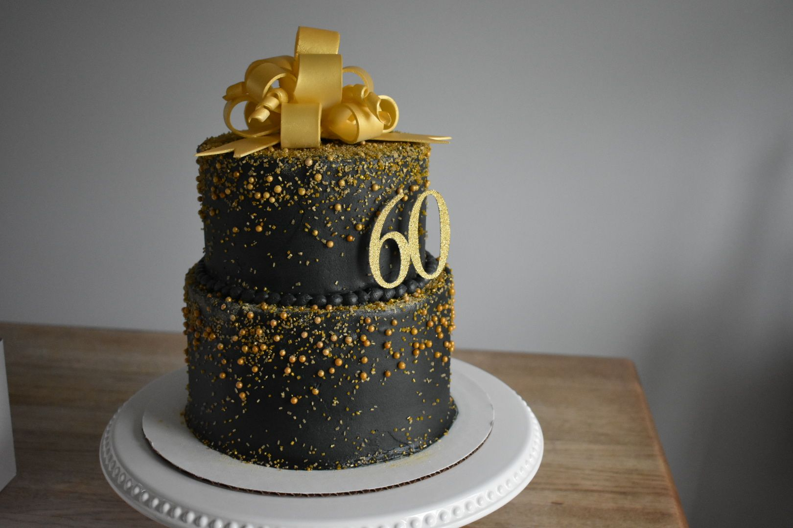 60th Birthday Cake Black And Gold Cake Birthday Cake For Him