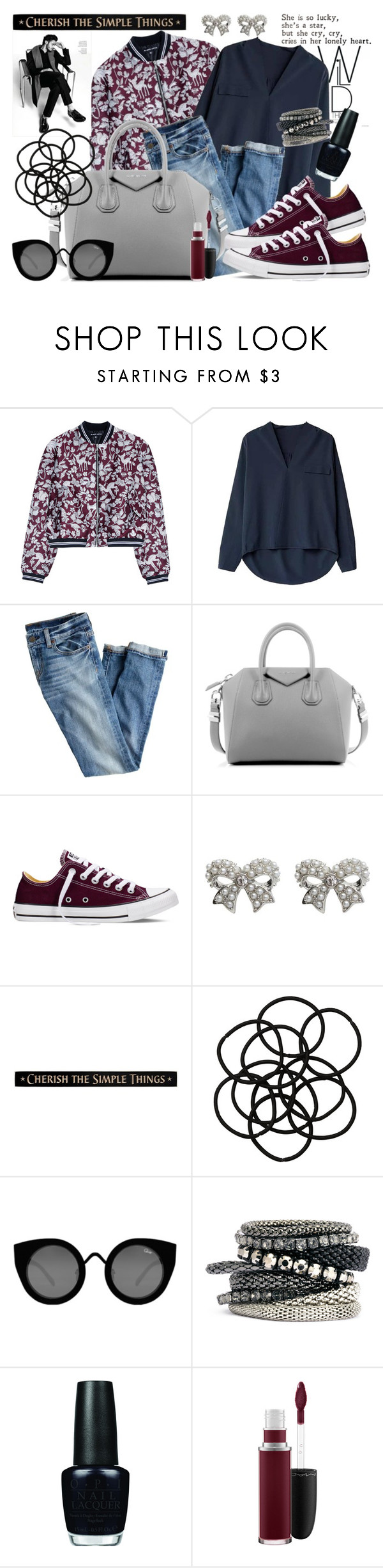 """""""COMFY DAY"""" by ania ❤ liked on Polyvore featuring moda, Markus Lupfer, J.Crew, Givenchy, Converse, M&Co, DutchCrafters, Monki, Quay e H&M"""
