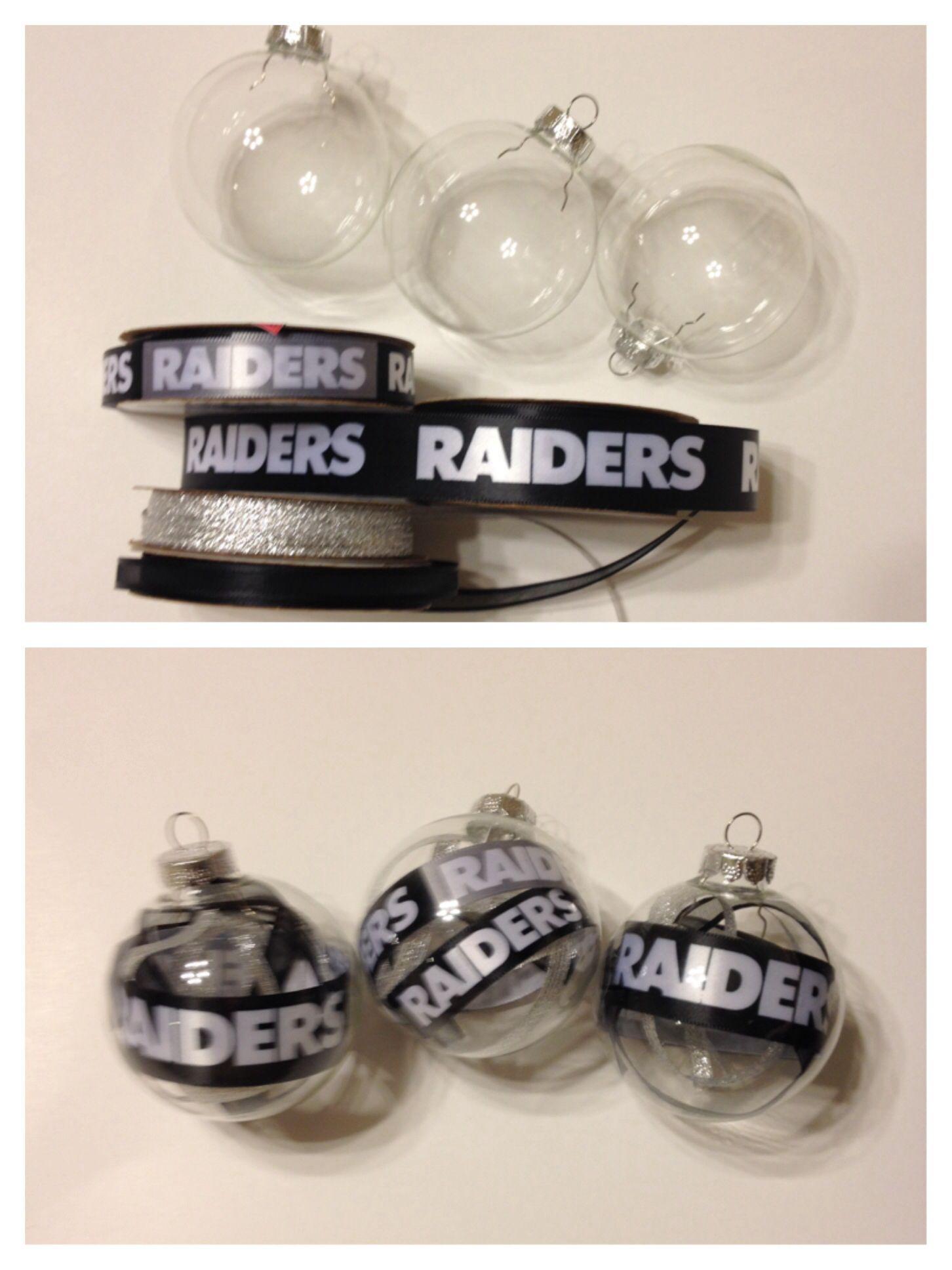 Raiders Christmas ornaments | BY ME | Pinterest | Raiders, Christmas ...