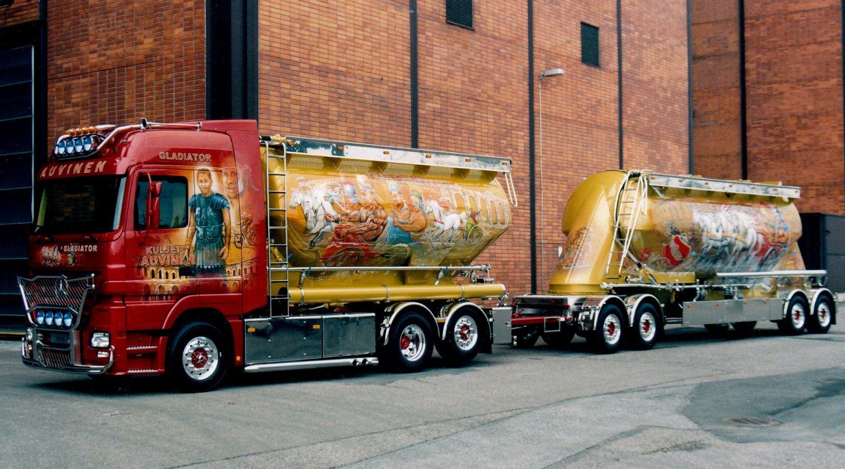 Gladiator I #airbrush #art #artwork #truck #trucking #simoriikonen #airbrushartist #mercedes-benz #mb #gladiator
