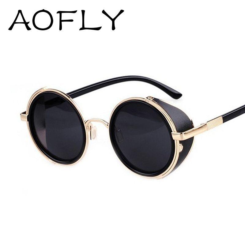 Vintage gafas de sol de diseño Steampunk gafas de sol de las mujeres ...