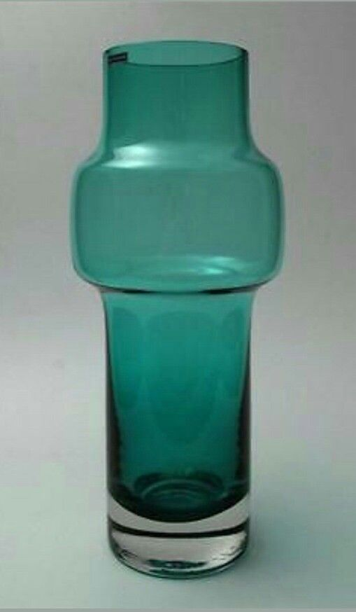 Riihimaki Finland Mid Century Scandinavian Art Glass Vase Ebay