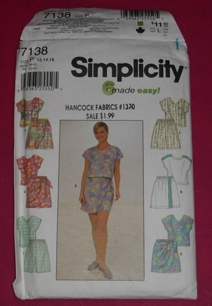 Simplicity 7138/8039 - 6 Made Easy - Tops & Shorts - Misses sizes 12-14-16