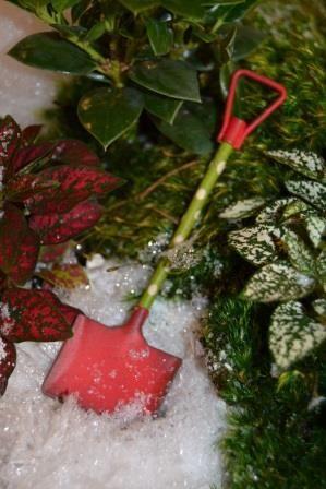 Fairy Garden Miniature Red Shovel. SHOP now... $4.99
