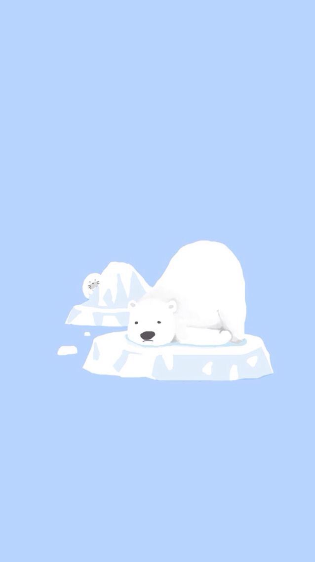 Polar bear Iphone wallpaper winter, Bear wallpaper