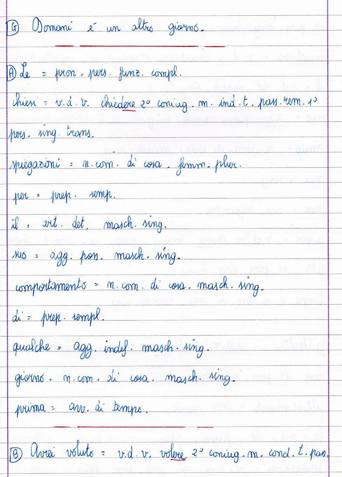 Analisi Grammaticale Attivita Poesia Lezioni Di Grammatica Le