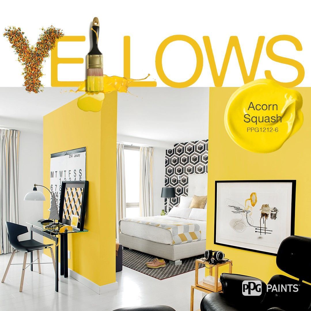 Ppg1212 6 Paint Color From Ppg Paint Colors For Diyers Professional Painters Perfect Paint Color Paint Color Inspiration Yellow Paint Colors