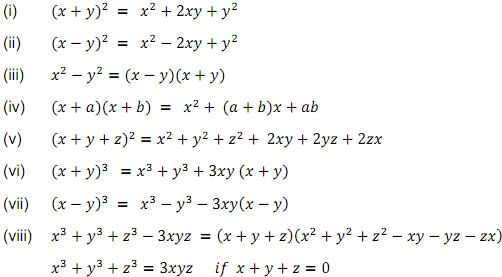 Polynomials Class 9 Maths Notes with Formulas Download in pdf