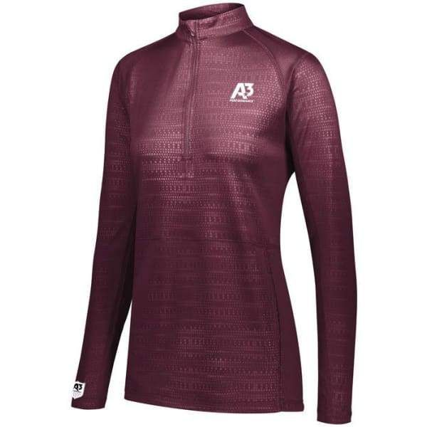 Modern design and performance come together in the Converge ½ Zip Pullover. This 100% polyester moisture-wicking pullover features a trend-forward, subtle embossed print and is a great option for coaches, athletes, and corporate wear. Breathable mesh sleeve and shoulder inserts help athletes stay cool on the most intense training days or help coaches stay cool in the hottest pool areas. 100% polyester embossed print smooth wicking knit with true hue technology® 100% polyester Dry-Excel™ Small Gr