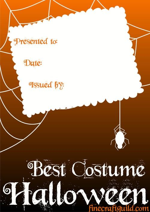 Certificate templates best halloween costume halloween certificate templates best halloween costume yelopaper Image collections