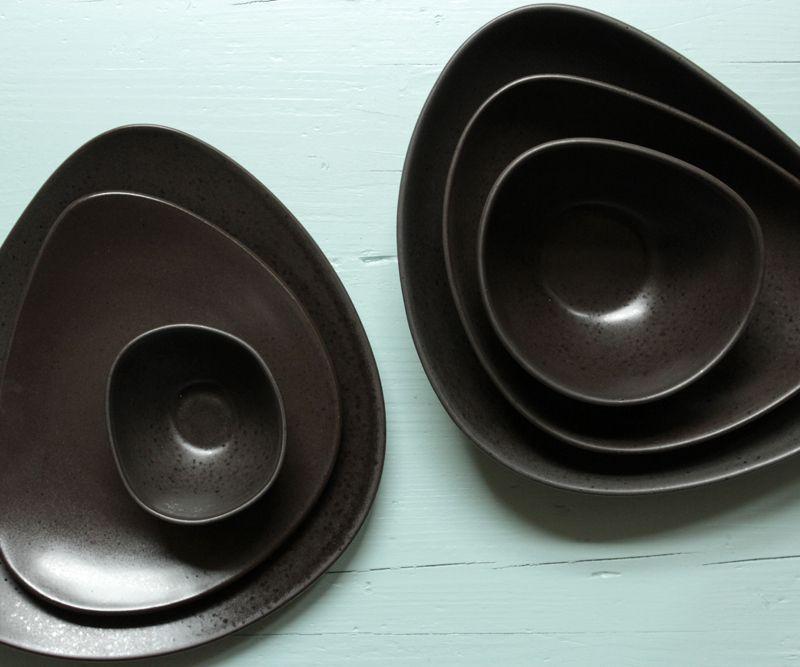 asa geschirr organische form matt braun gebraucht set proplandia props f r foodfotografen. Black Bedroom Furniture Sets. Home Design Ideas