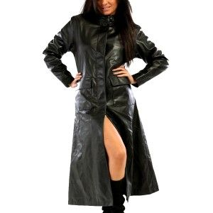 Images of Long Leather Coats For Women - Reikian