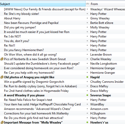 Ron Weasley Email account