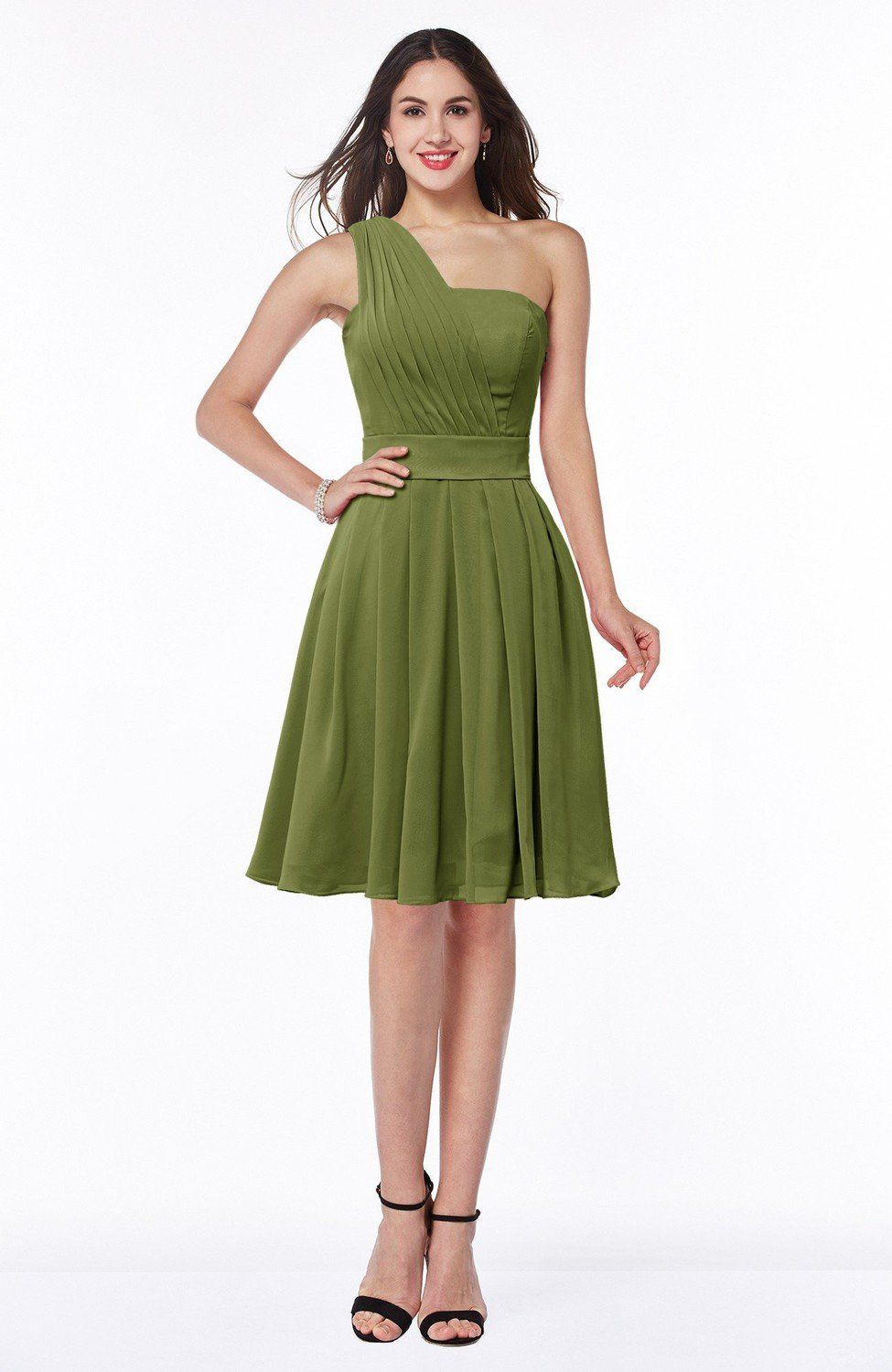 Olive Green Bridesmaid Dress Simple Sleeveless Zip Up Knee Length Short Ribbon Lovecolordress Plum Bridesmaid Dresses Royal Blue Bridesmaid Dresses Olive Green Bridesmaid Dresses [ 1500 x 975 Pixel ]