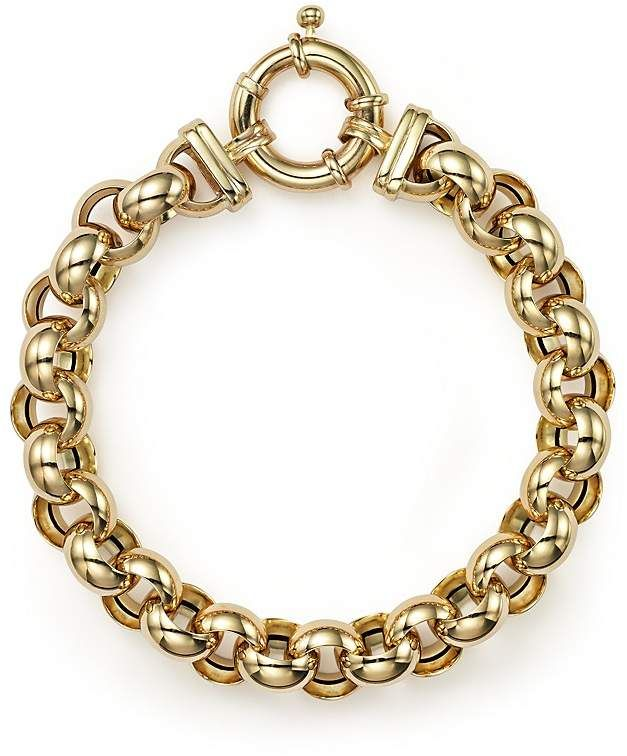 7eaa00a5787ac Bloomingdale's 14K Yellow Gold Medium Rolo Bracelet - 100% Exclusive ...