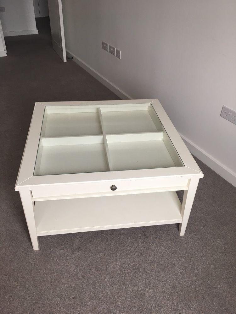Ikea Liatorp White and Glass Coffee Table Ikea coffee table