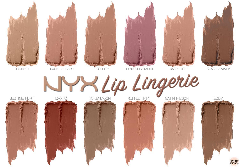 NYX Lip Lingerie Liquid Lipstick Swatches - $7 each