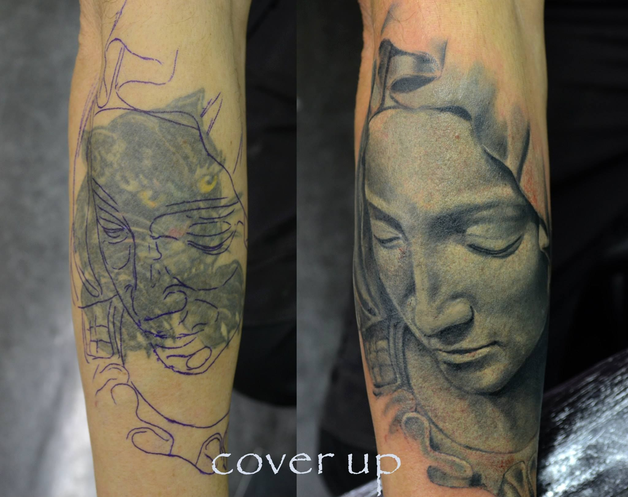 holy #tattoo #St.Mary #sculpture #idea #cover-up #laser-removal #ink ...