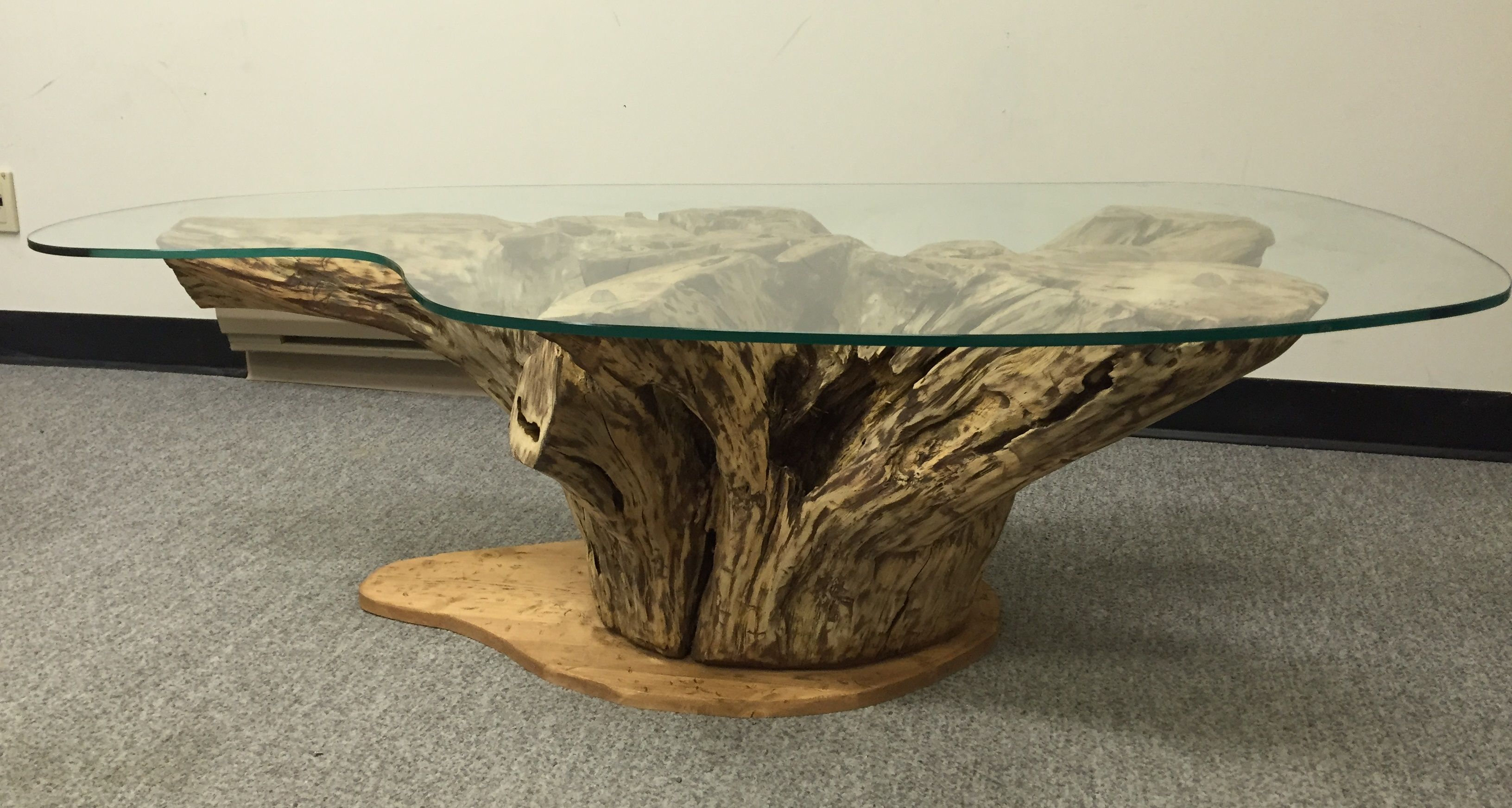 Root Coffee Table Root Coffee Table With Glass Stump