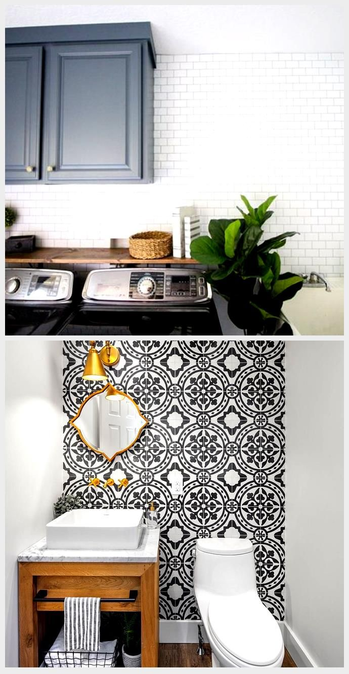 subway tile accent wall in our laundry room video on laundry room wall covering ideas id=59944