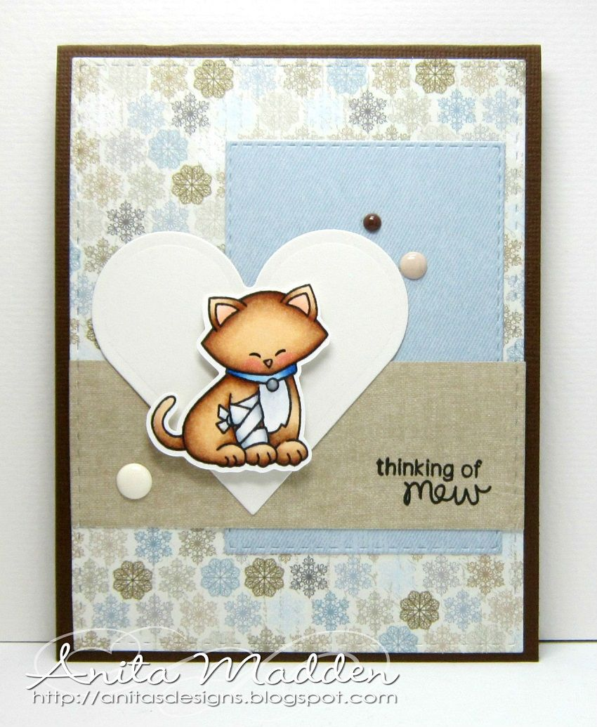 Thinking Of Mew Card By Anita Madden Newtons Sick Day Stamp Set