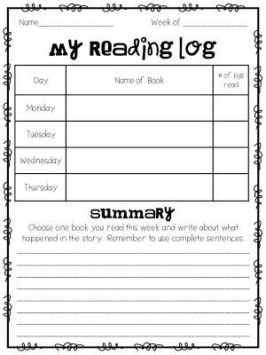 Homework tips and ideas and a FREE Reading Log | Applicious Reading ...