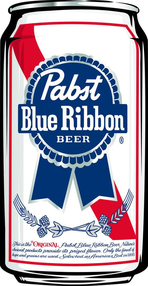 Pabst Blue Ribbon Beer Die Cut Sticker ~NEW Craft Brewing Logo Brewery Decal~