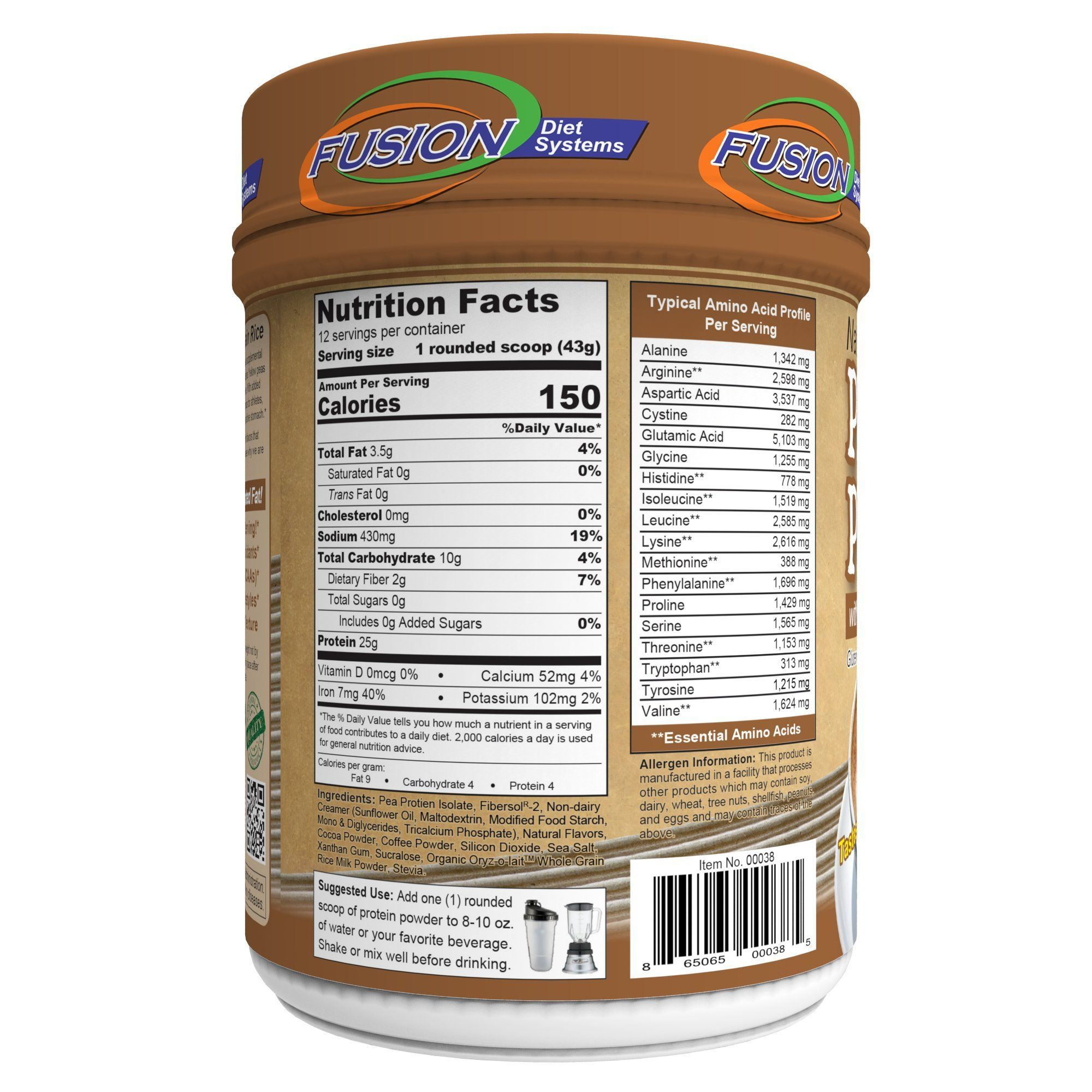 Fusion Plant Based Vegan Protein – Cafe Mocha Best Pure
