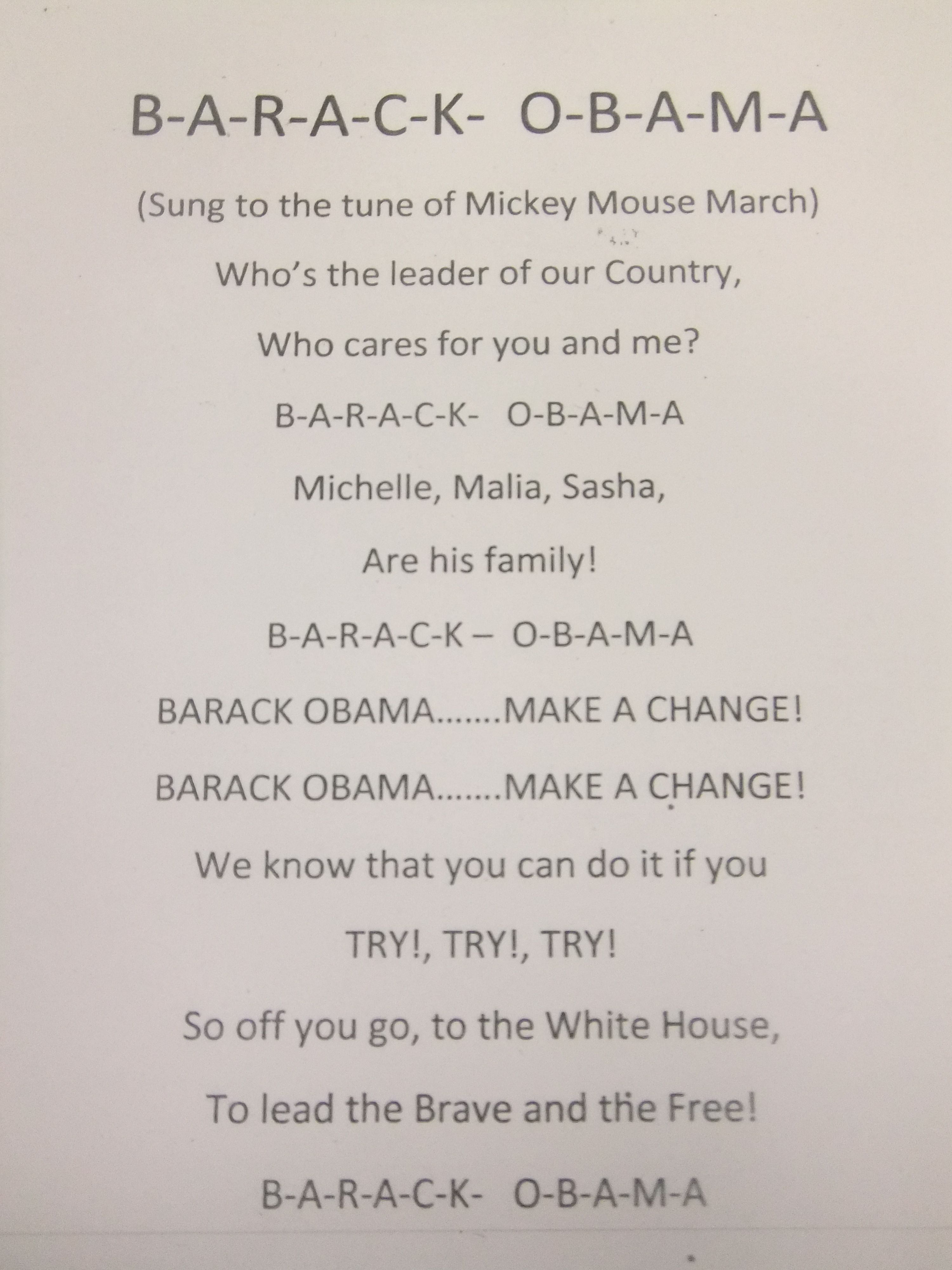 Thi I A Song Wrote When Obama Became President We Sing It Also Celebrate Our National Symbol American Singing Essay About Barack Biography On Leadership