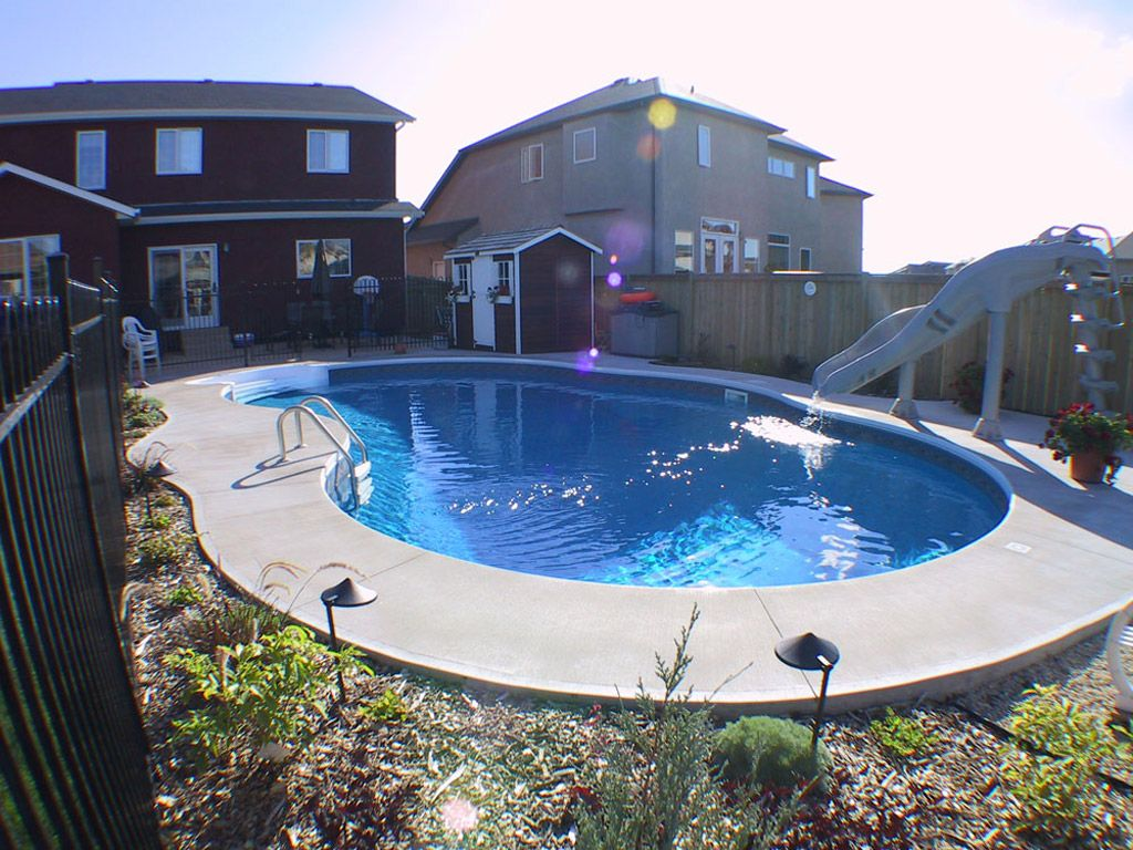 The Aloha Pool Is Our Most Popular Pool With A Humpback Kidney Shape And Equal Ends Kidney Shaped Pool Small Pool Design Cool Swimming Pools
