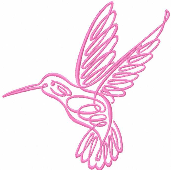 Pink Humming Bird Free Embroidery Design Hummingbird Embroidery