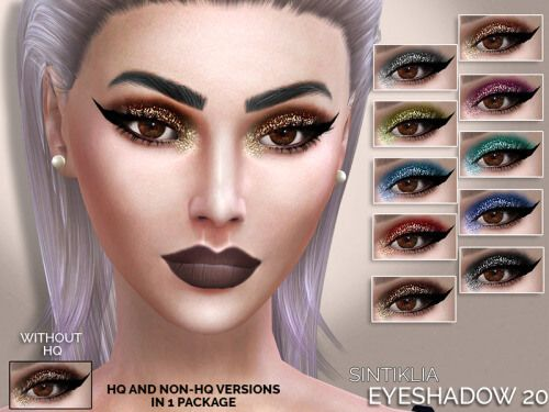 Glitter Eyeshadow with Eyeliner for The Sims 4