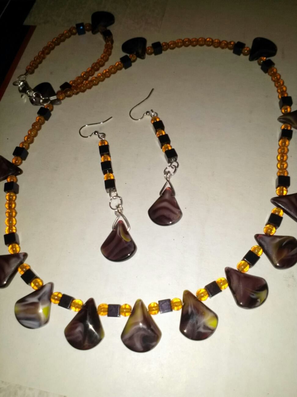 millefori glass, heminite and czech glass beads