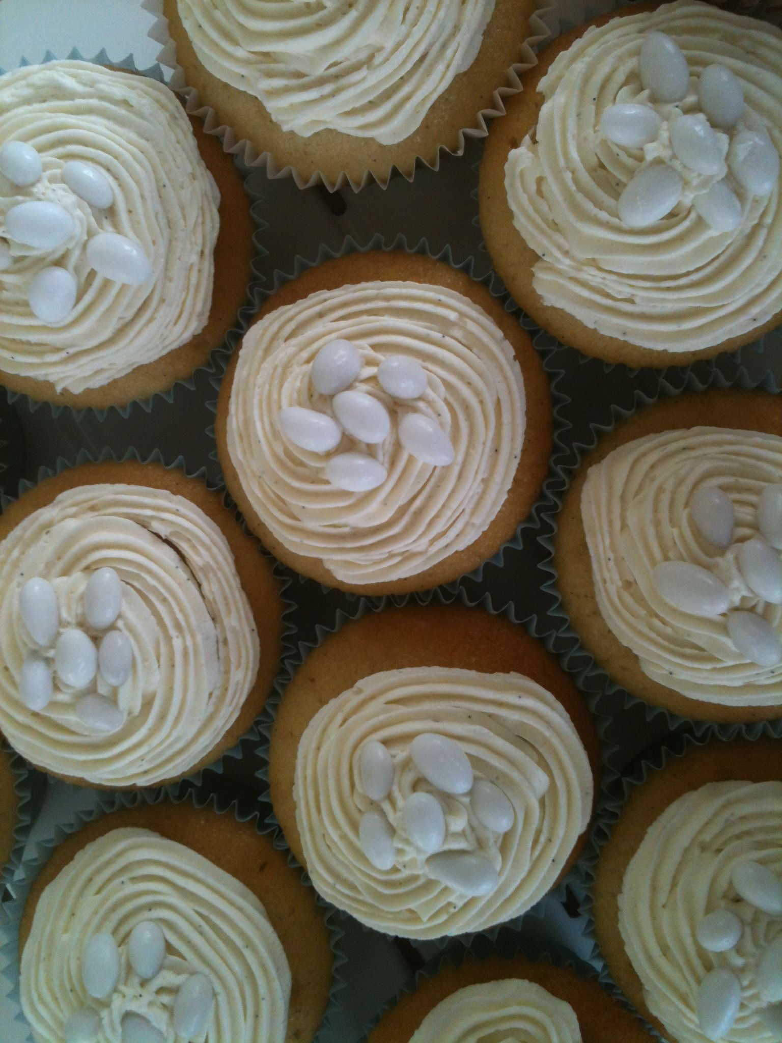 Vanilla Bean Cupcakes With Vanilla From Zanzibar And Sugar Coated