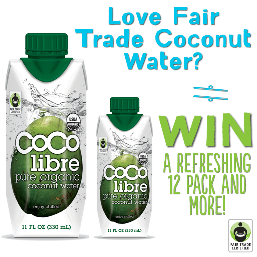 Want to #WIN a super-sized #Fitness Gift Set featuring BRAND NEW #FairTrade Certified @drinkcocolibre Organic #Coconut Water? Feeling lucky? Enter here: http://fairtrd.us/1oVXKZ7 #win #giveaway #coconutwater