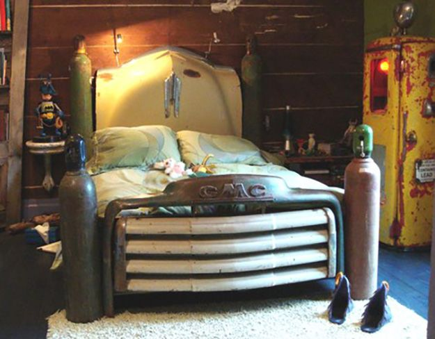 old car parts repurposed upcycled truck bed frame diy projects crafts by diy - Truck Bed Frame