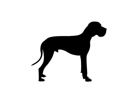 Great Dane V5 Dog Breed Silhouette Custom Vinyl Decal Sticker