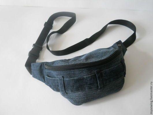 a4bf883fd6c5 Мужские сумки ручной работы. Ярмарка Мастеров - ручная работа. Купить Сумка  поясная мужская джинсовая