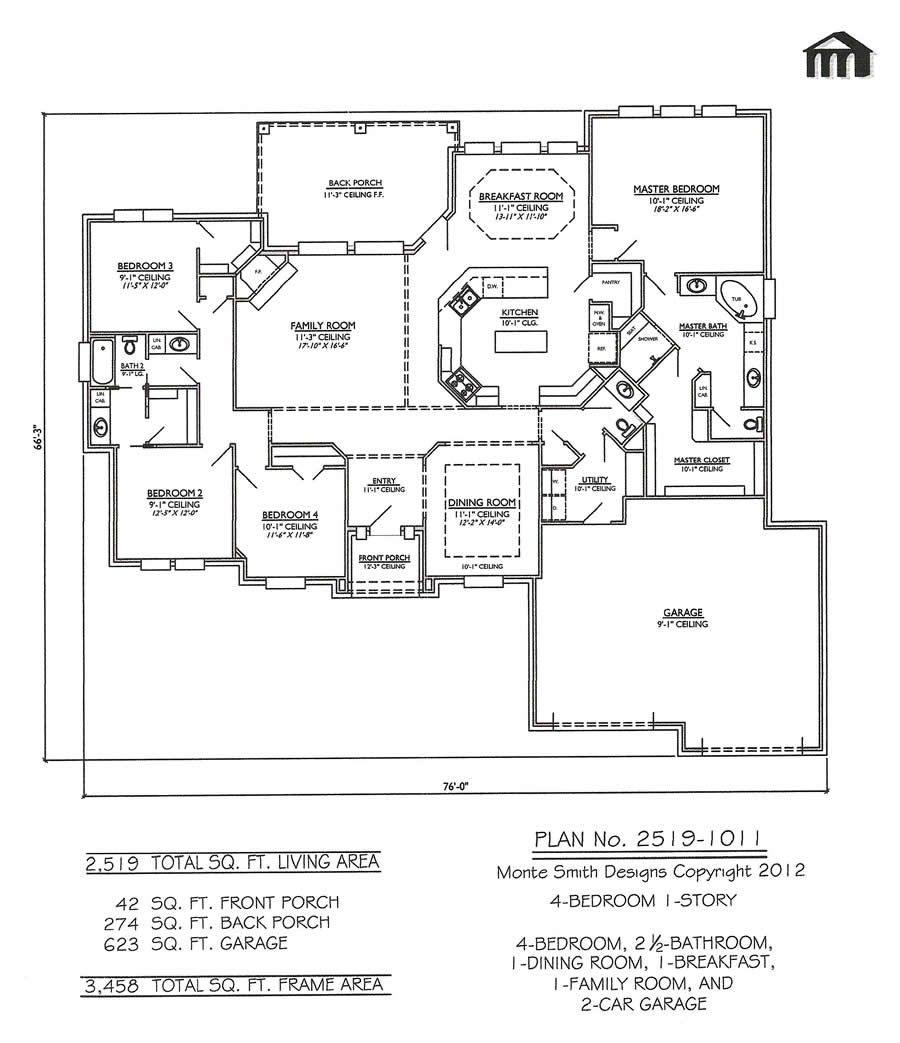 4 bedroom 1 story 3 bathrooms 1 family room 1 dining for 1 story 4 bedroom open floor plans