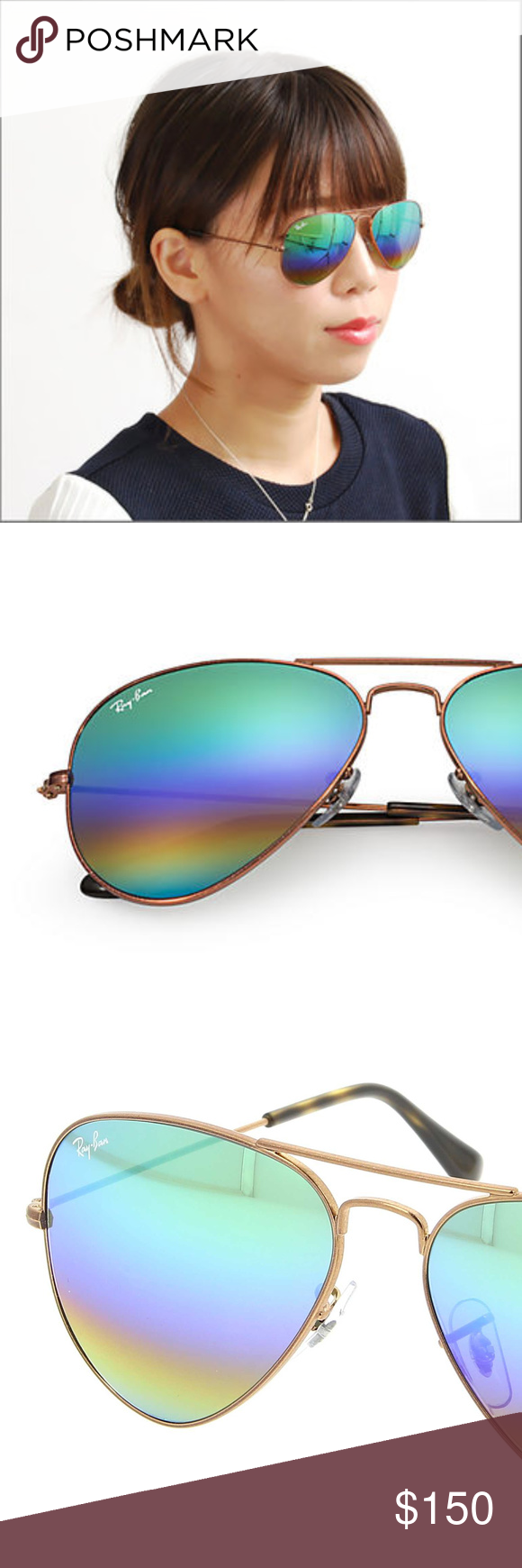 Ray Ban Aviator RB3025 9018C3 62-14 Mineral Flash Designed for daring  pilots of the
