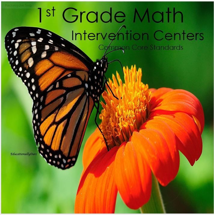 1st  Grade Math Center. Great for differentiating grade level math, using common core standards