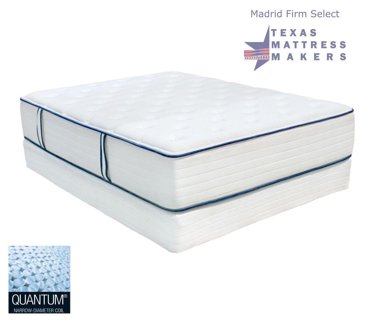 Texas Mattress Makers - Madrid Firm Select Mattress, $1,649.00 Queen Set (http://www.texasmattressmakers.com/madrid-firm-select-mattress/)
