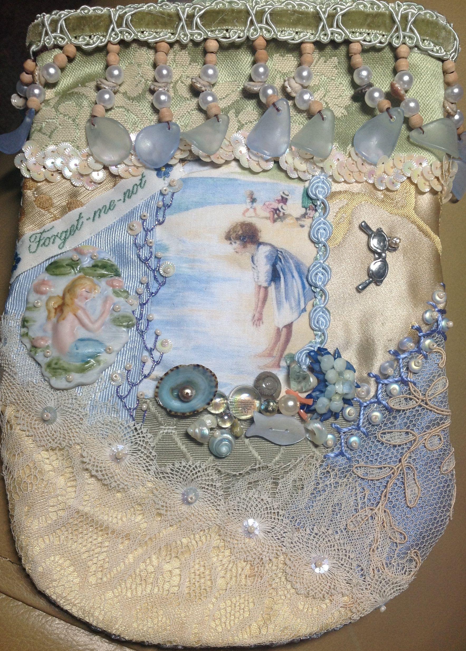Mermaid tear gathering purse. 8/27/13 Pat Winter