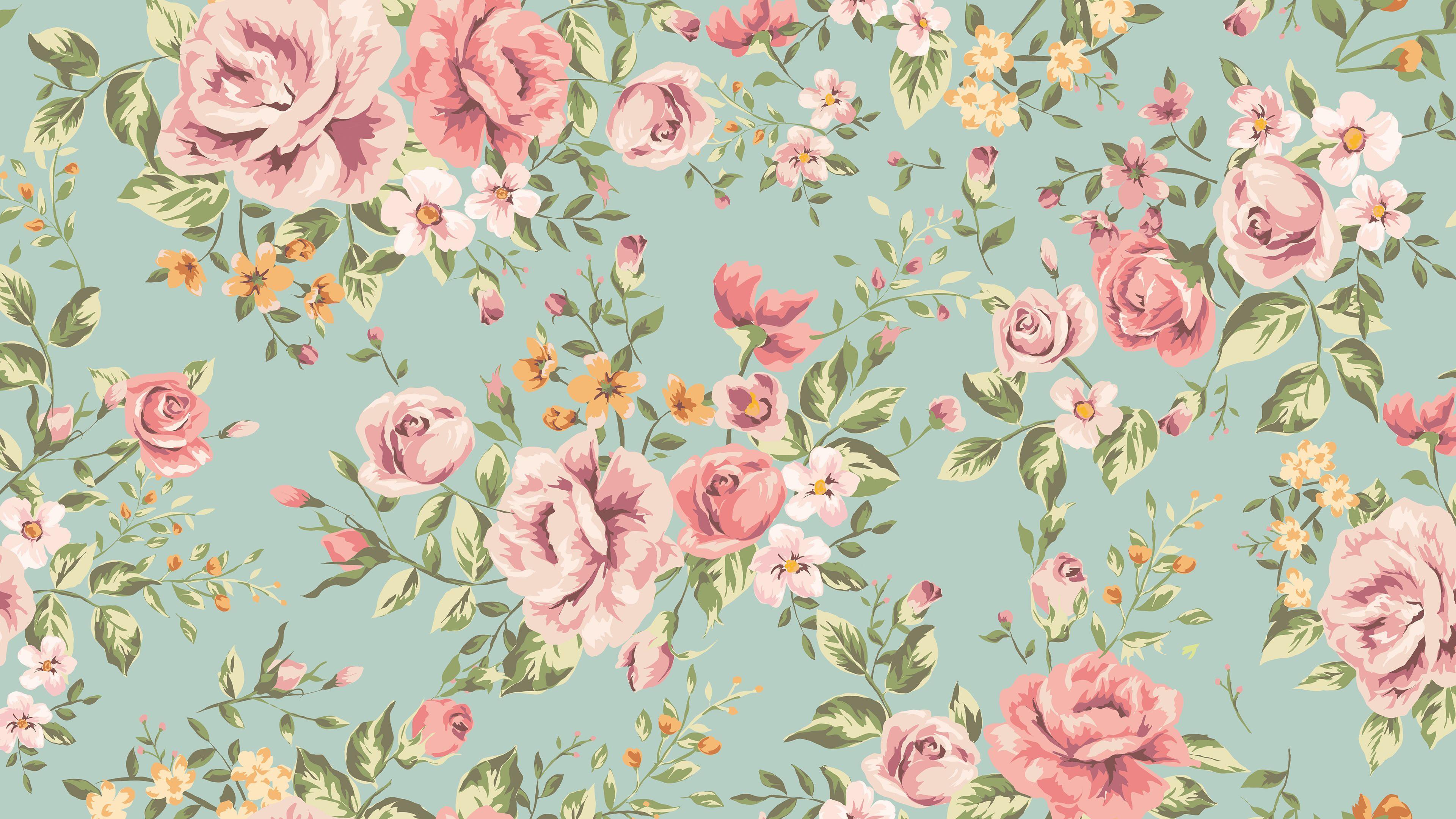 Vintage Floral Pattern Uhd 4k Wallpaper Pixelz In 2020 Vintage Flowers Wallpaper Vintage Flowers Flower Wallpaper